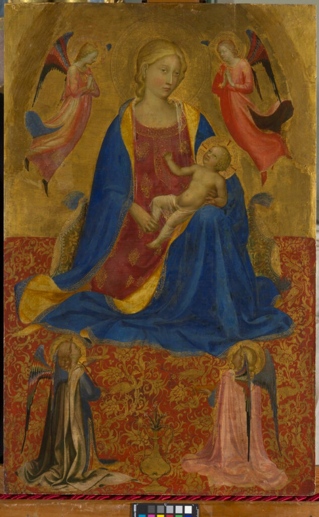 Fra Angelico, Madonna dell'Umiltà, ca. 1415-1419. Gold and tempera on panel, 81 x 51 cm. Eremitage Museum, St. Petersburg (4115).